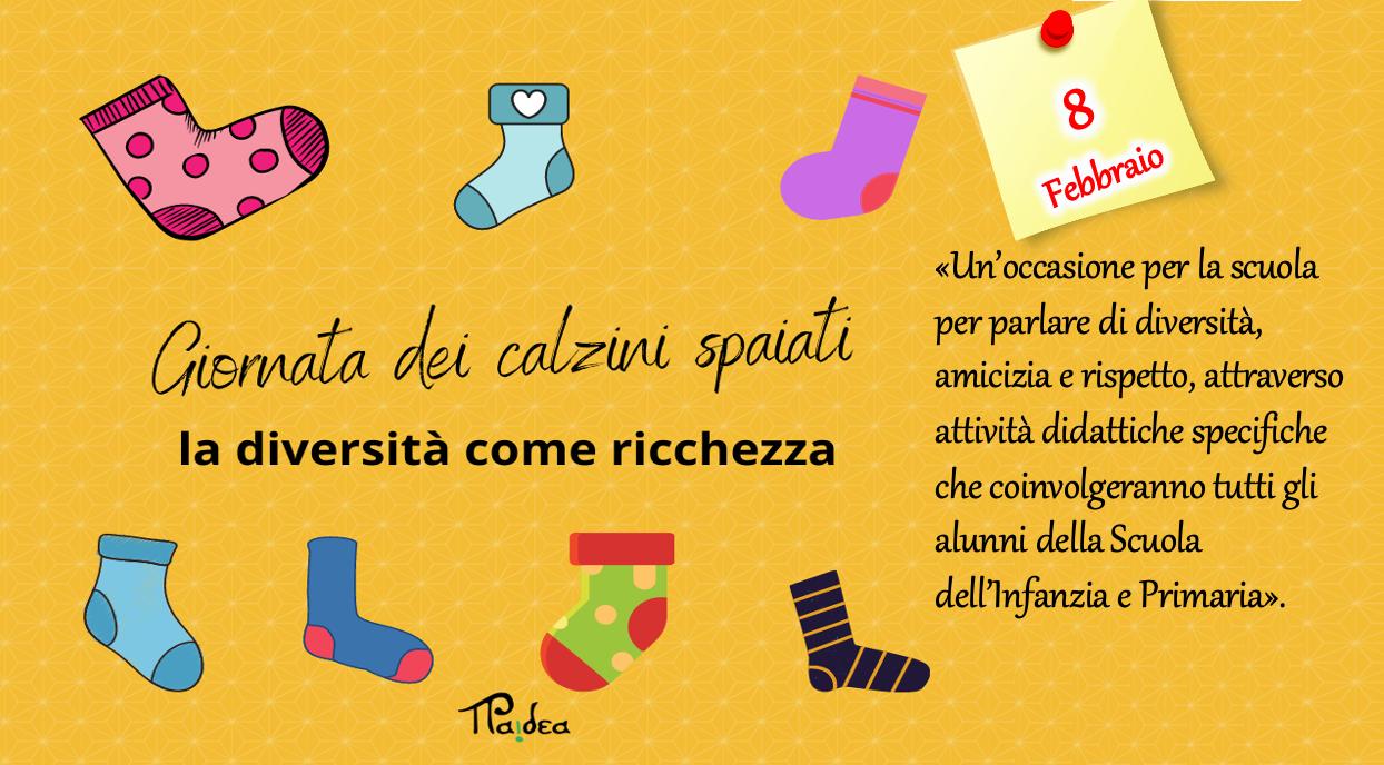 «Tutti diversi, tutti uguali, tutti importanti»: l'8 Febbraio i nostri piccoli alunni celebrano la Giornata dei «calzini spaiati»
